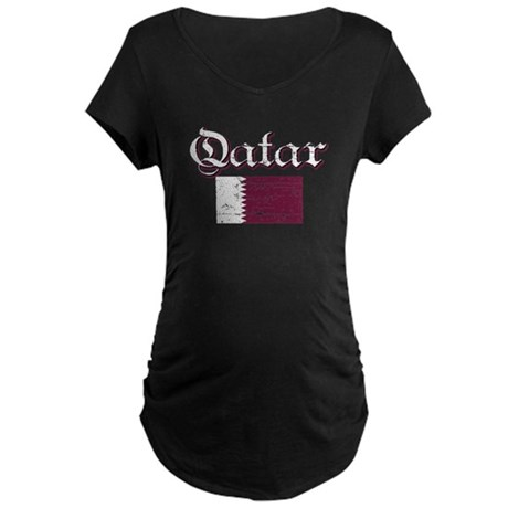 Qatari flag Maternity Dark T-Shirt
