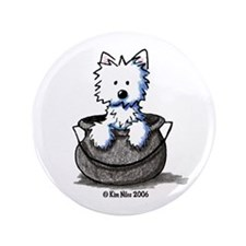"Cauldron Cutie Westie 3.5"" Button"