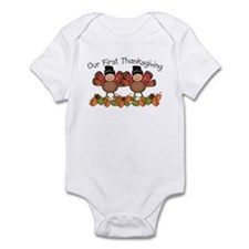 First Thanksgiving TWINS Infant Bodysuit