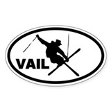 Vail Skier Oval Decal
