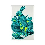 White Rabbit Rectangle Magnet (10 pack)