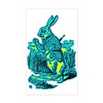 White Rabbit Rectangle Sticker
