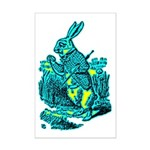 White Rabbit Mini Poster Print