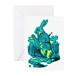 White Rabbit Greeting Cards (Pk of 20)