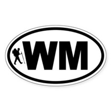 White Mountains WM Hiker Oval Decal