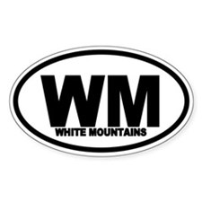 White Mountains WM Oval Decal