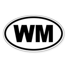Basic White Mountains WM Oval Decal