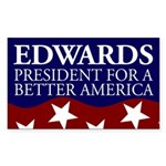 Edwards for America bumper sticker