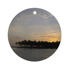 Tropical Sunset Ornament (Round)