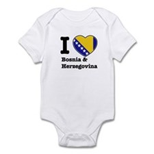 I love Bosnia and Herzegovina Infant Bodysuit