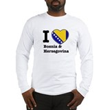 I love Bosnia and Herzegovina Long Sleeve T-Shirt