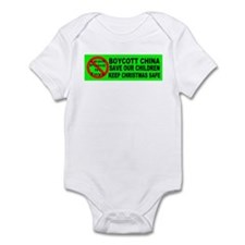 Boycott China Xmas Bumper Sti Infant Bodysuit