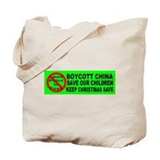 Boycott China Xmas Bumper Sti Tote Bag