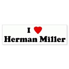 I Love Herman Miller Bumper Bumper Sticker