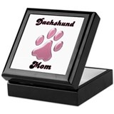 Dachshund Mom3 Keepsake Box