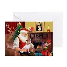 Santa's Jack Russell Greeting Cards (Pk of 20)