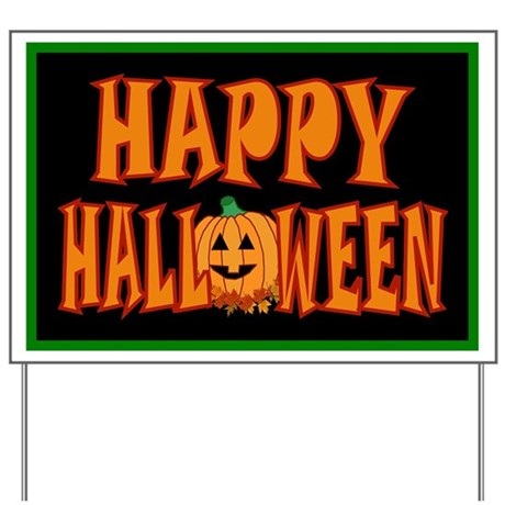 Happy Halloween Pumpkin Yard Sign