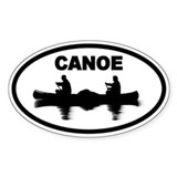 Canoe Oval Bumper Stickers