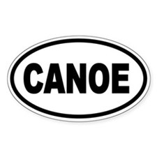 Basic Canoe Oval Decal