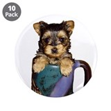 "Yorkie 3.5"" Button (10 pack)"
