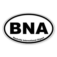 Nashville International Airport Oval Decal