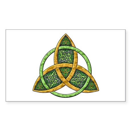 Celtic Trinity Knot Rectangle Sticker