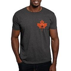 Halloween Maple Leaf Dark T-Shirt