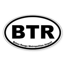 Baton Rouge Metropolitan Airport Oval Decal