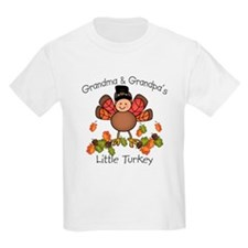 Grandma & Grandpa's Lil Turkey T-Shirt