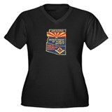 Arizona Masonic HP Women's Plus Size V-Neck Dark T