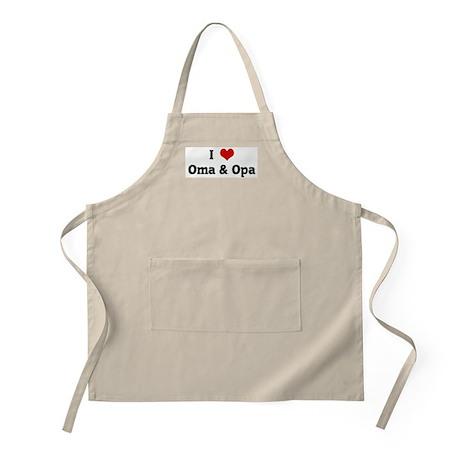 I Love Oma & Opa BBQ Apron