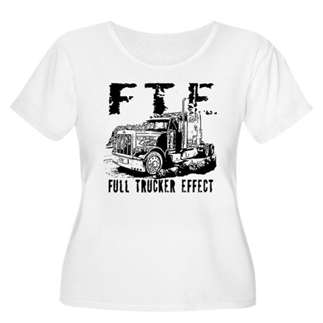FTE - Black Women's Plus Size Scoop Neck T-Shirt