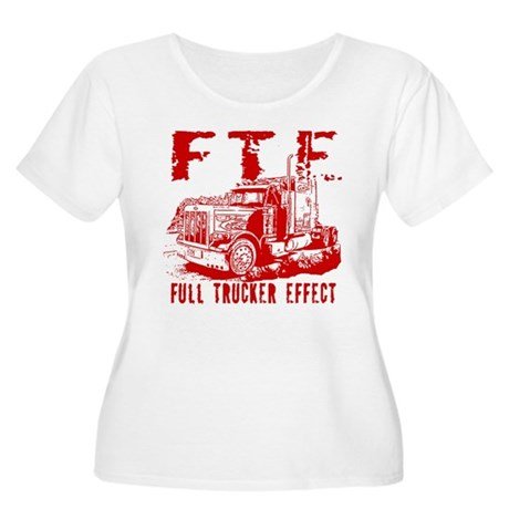 FTE - Red Women's Plus Size Scoop Neck T-Shirt