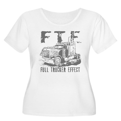 FTE - Grey Women's Plus Size Scoop Neck T-Shirt