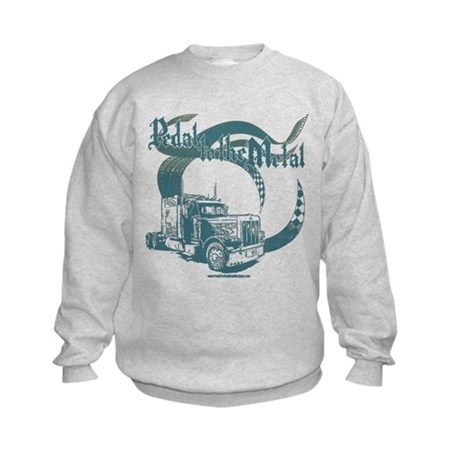 PTTM-Trucker-Blue Kids Sweatshirt