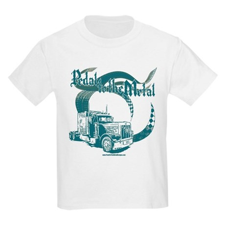 PTTM-Trucker-Blue Kids Light T-Shirt