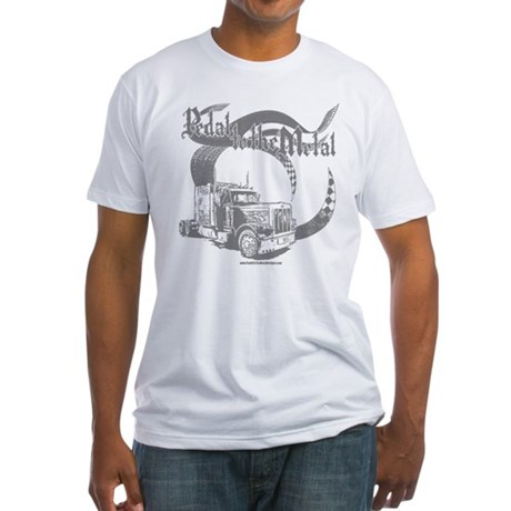 PTTM-Trucker-Grey Fitted T-Shirt
