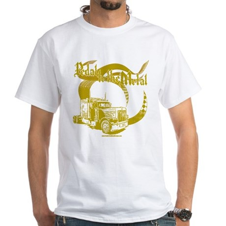 PTTM-Trucker-Tan White T-Shirt