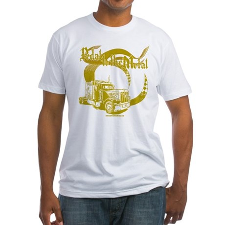 PTTM-Trucker-Tan Fitted T-Shirt