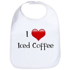 I Love Iced Coffee Bib