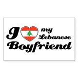 I love my Lebanese Boyfriend Rectangle Decal