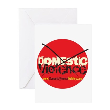 Domestic Violence w/Yellow UR Greeting Card
