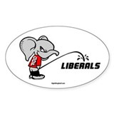 GOPee on Liberals Oval Decal
