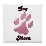 Dog Mom3 Tile Coaster