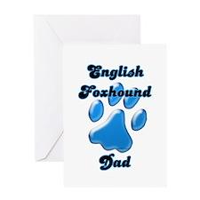English Fox Dad3 Greeting Card