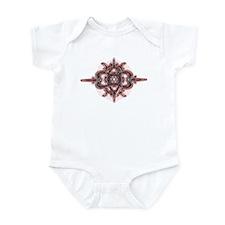 Design 3 red & gray Infant Bodysuit