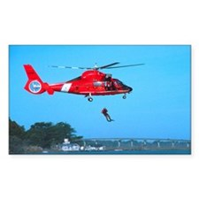 Coast Guard Chopper Rectangle Decal
