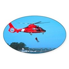 Coast Guard Chopper Oval Decal