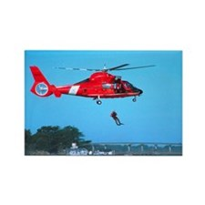 Coast Guard Chopper Rectangle Magnet (10 pack)