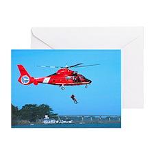 Coast Guard Chopper Greeting Card